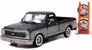 Miniatura Pick-up Cheyenne 1972 Rodas Extras 1:24 Jada