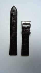 Pulseira Emporio Armani Couro Marrom 20mm Relógio