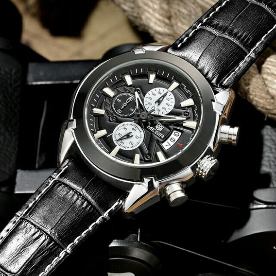 Relógio Megir Ponteiros Funcionais Novo