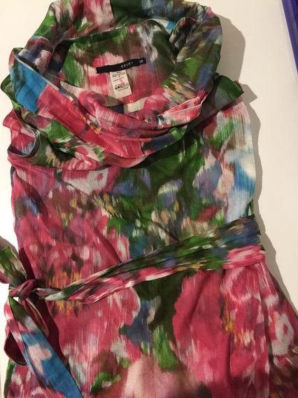 Roupa Blusa Feminina Barata Gola Rolê Estampada Floral