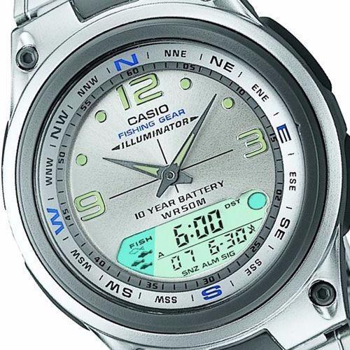 Relogio Casio Aw 82d Pescador Luas Marés Crono Timer 3 Alarm