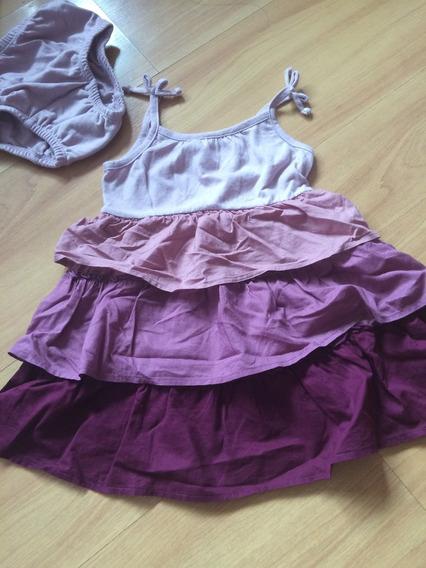 Vestido Con Bombachon Baby Gap Talle 2 Años Importada De Usa