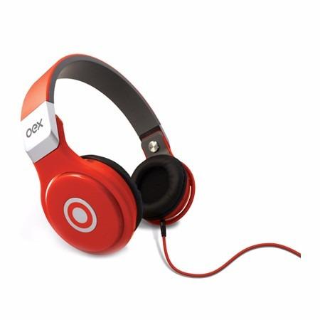 Oex Headphone Multimídia Stéreo Hp-102 Cor Vermelho