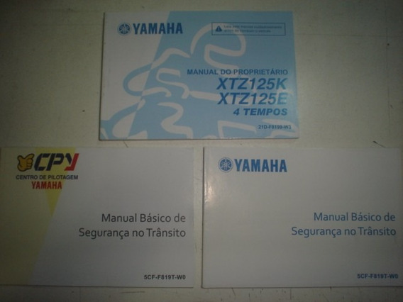 Novo Manual Moto Yamaha Xtz 125 K E 2012 2013 2014 Original