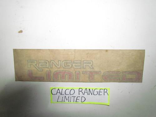 Calco De Ford Ranger  Limite