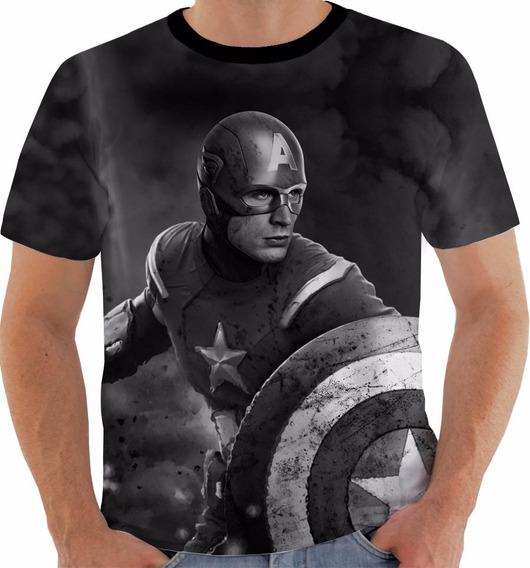 Camisa Camiseta Capitão América Captain First Avenger Pb