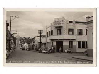 Cartao Postal Hotel Do Comercio Serra Negra - Sp Anos 50