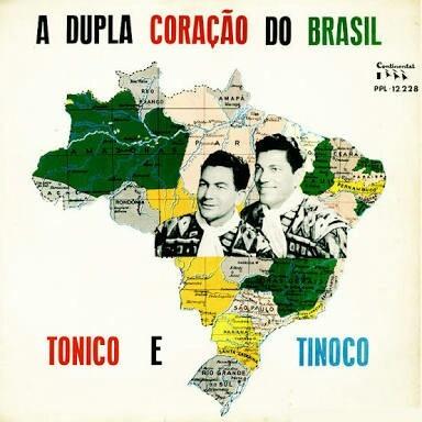 Lp Tonico E Tinoco A Dupla Coracao Do Brasil .ótimo Estado