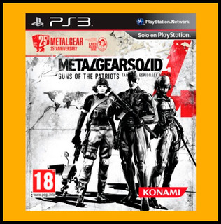 Metal Gear Solid 4 Guns Of The Patriots Ps3 Aceptamos Oxxo