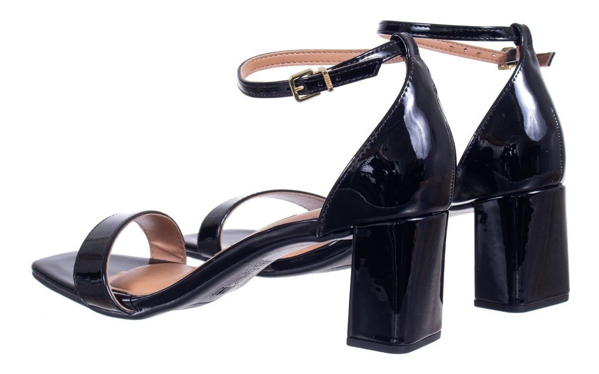 Sapato Scarpin Zariff Bico Quadrado 1710908 Preto   Zariff