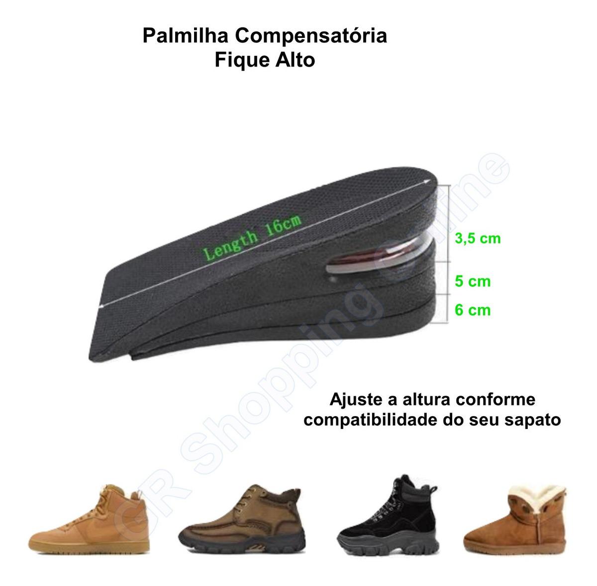 Calcanheira Para Aumentar Altura Em 4 cm Masculina - Shoe