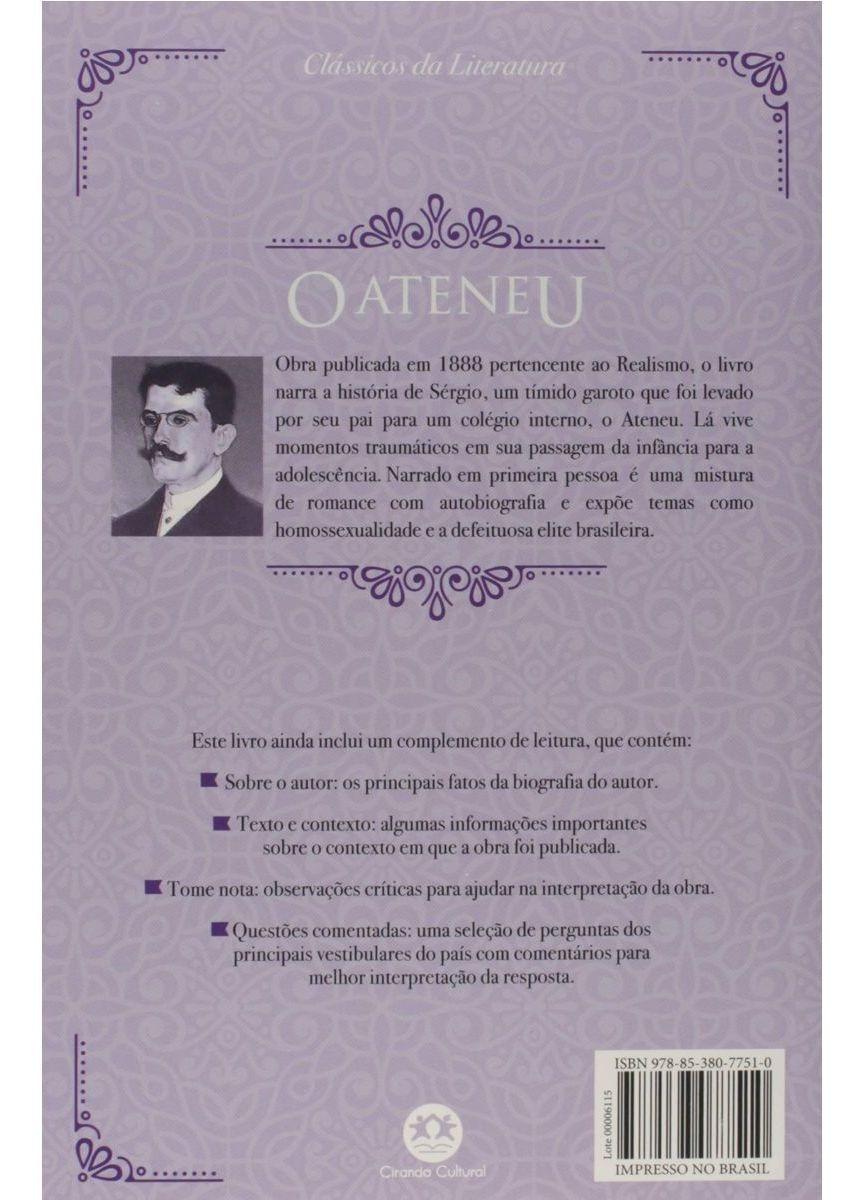 O Ateneu - Clássicos Da Literatura - Texto Integral | COISAS-DE-CASA