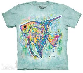 Camiseta The Mountain 100% Algodão Angel Fish / Peixe Anjo