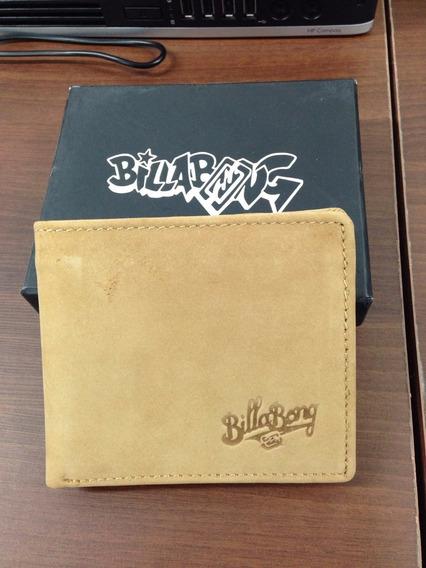 Billetera Billabong Cuero Original Marron Importada Mod10