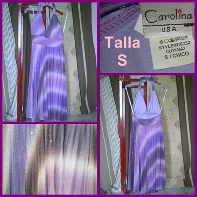 Vestido Escarchado Violeta - Morado