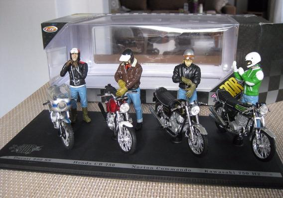 Honda Cb750 Norton Ducati Kawasaki - 4 Motos 1/18 Cafe Racer
