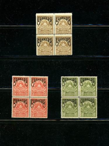 Sellos Postales Chile. Sellos Telégrafos Sobrecargados, 1904