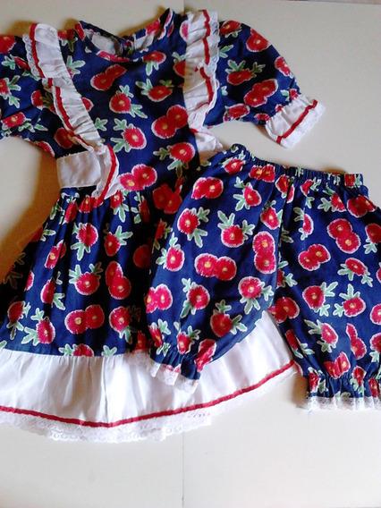 Vestido Junino Infantil Usado Tam.04