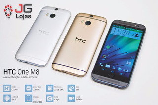 Smartphone Htc One M8 32gb Quad-core 2gb Ram Desbloqueado 4g