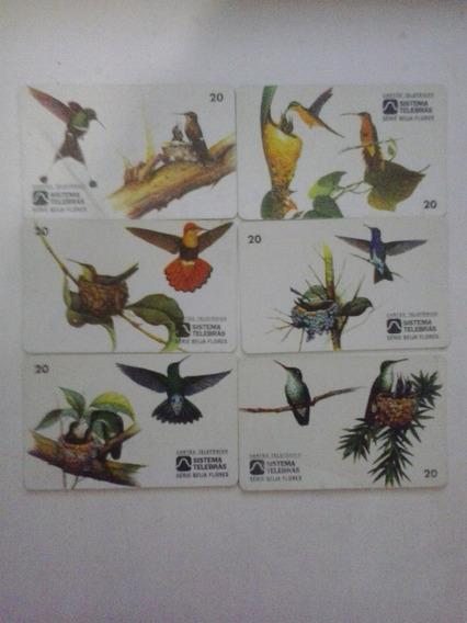 Cartões Telefônicos- Serie Beija Flores - Frete Grátis
