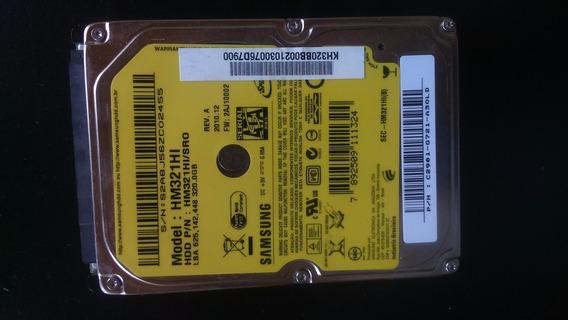 Hd Samsung Hm321hi 320 Gb Com Defeito Para Notebook