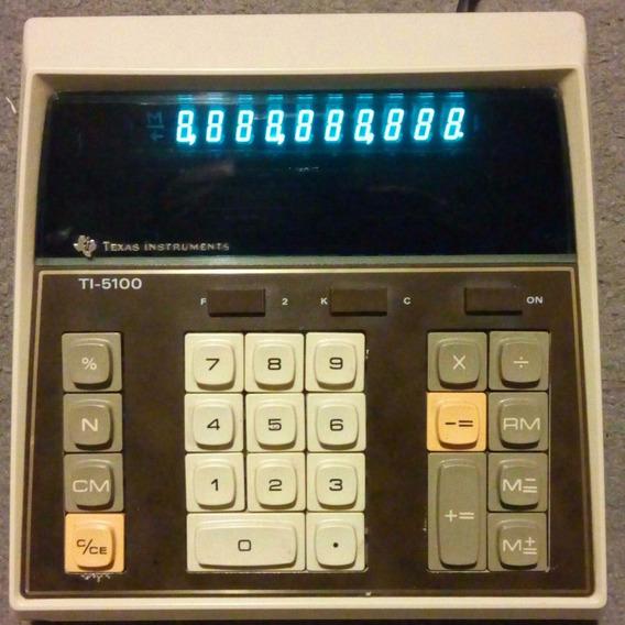 Rara Calculadora Texas Ti-5100 Ano 1976 Perfeita Pra Usar!