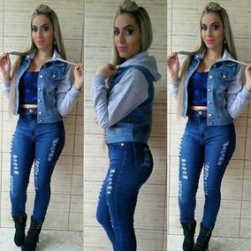 Jaquetinhas Jeans J Moletom Na Manga,barata