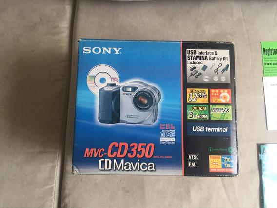 Câmera Fotográfica Sony Cd Mavica Mvc-350