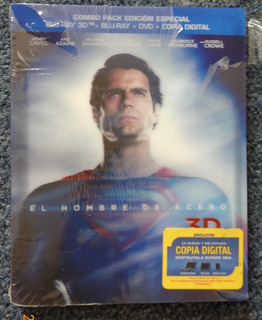 Blu-ray 3d Superman El Hombre De Acero Bluray Man Of Steel