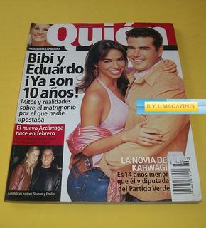 Bibi Gaytan Timbiriche Eduardo Capetillo Revista Quien 2004