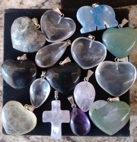 Pingentes De Pedras Naturais Variedade De Cores E Formas