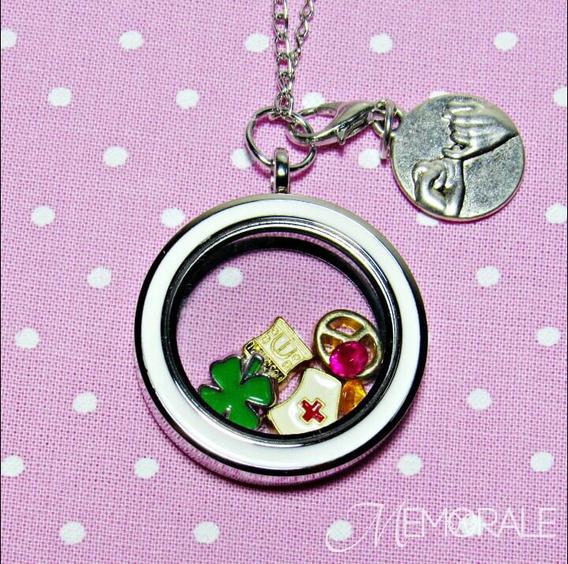 Medalhão Da Vida - Enfermagem (colar Personalizado) Presente