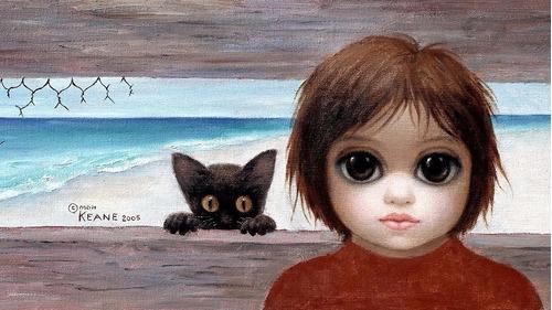 Foto Poster 55cmx90cm Margaret Keane Grandes Olhos #3