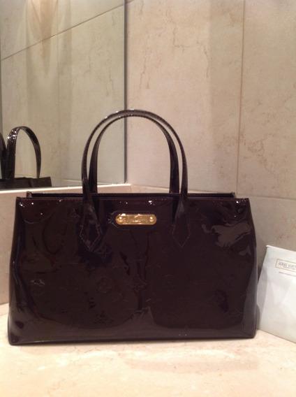 Cartera Louis Vuitton Cuero Vernis Wilshire. Con Factura