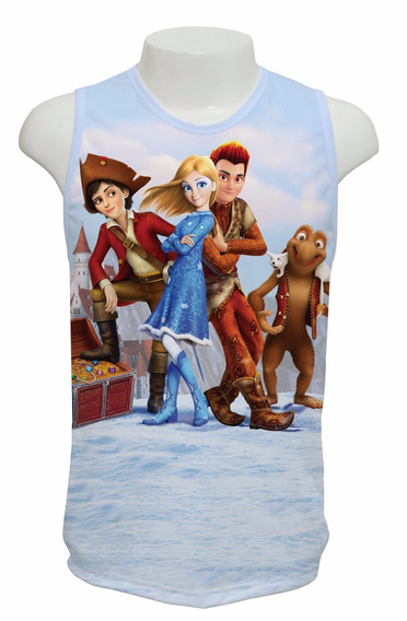 Camiseta Filme O Reino Gelado Fogo E Gelo 2017 - Regata