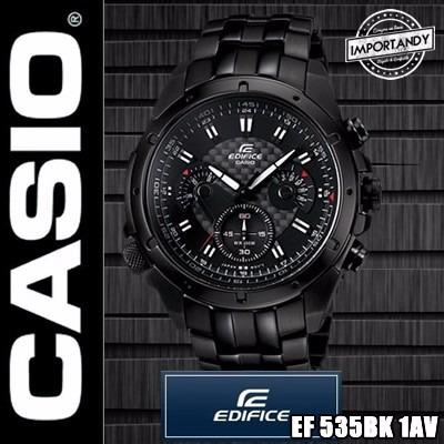 1bc9c6a62603 Reloj Casio Edifice Ef-535bk-1av - Original!! Nuevo En Caja - S  289 ...