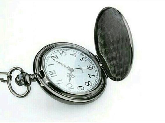 Relógio Bolso Quarts 2017 Black