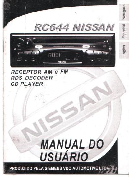 Manual Proprietario Som Cd Radio Nissan Rc644