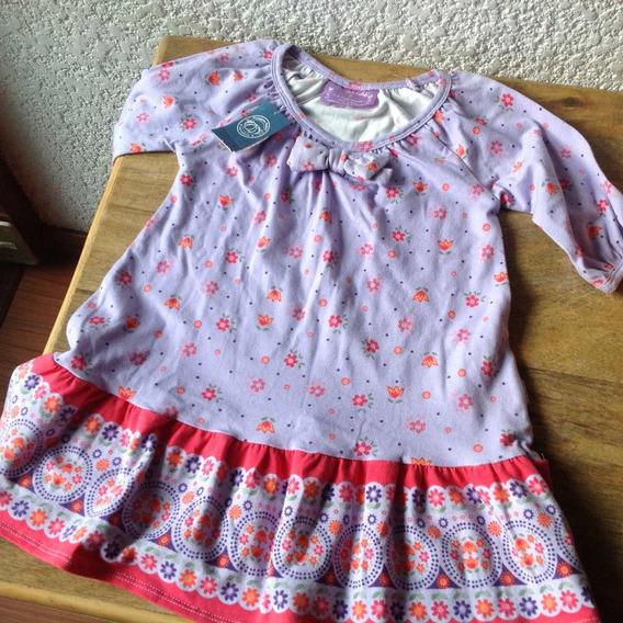 Vestido Niña Talla 2, En Tela De Punto