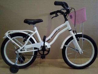 Bicicletas Playera Rod 14 Dama Full Con Canasto Y Estabiliza