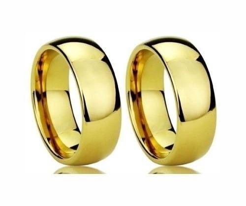 Par Aliança Casamento 8 Mm 16 Grs Em Ouro 18k Frete Grátis