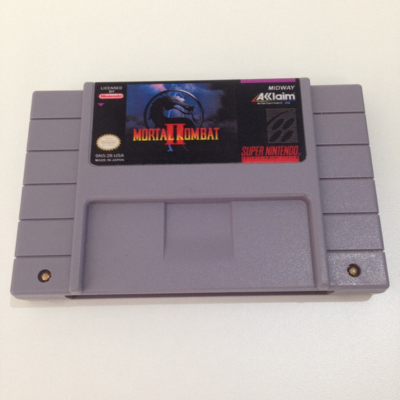 Cartucho Mortal Kombat 2 Original Relabel - Super Nintendo
