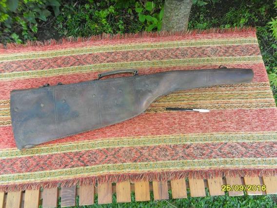 Antigua Funda En Cuero Para Escopeta Rifle Carabina Leer