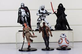 Kit 6 Bonecos Star Wars Darth Vader Chewbacca Pronta Entrega