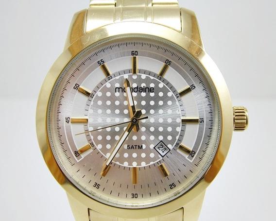 Relógio Masculino Folheado A Ouro - Mondaine