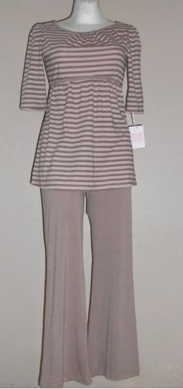 Royal Maternity Moderna Pijama De Maternidad Rayas T- Chica