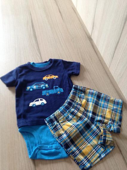 Conjunto Carters 3 Peças Bebê 9 Meses Original/novo