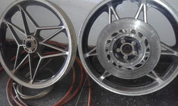Rodas Cb45o Originais Usadas Freio A Disco Dian.traseira