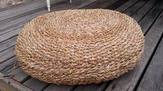 Puff Almohadón Redondo Grande Seagrass 80x20 Envio Gratis!!!