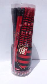 Lápis Preto C/ Borracha Flamengo Summit Pote C/ 48